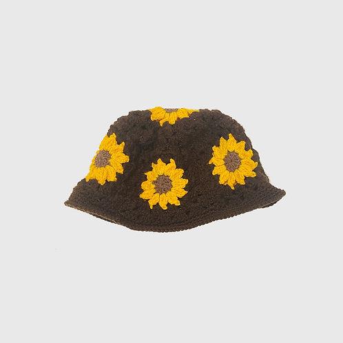 Sunflower Handwoven Bucket