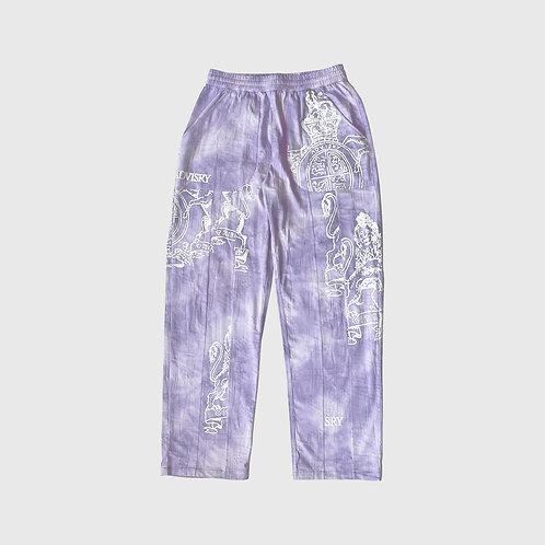 Tie Dye Crest Pants (Lavendar)