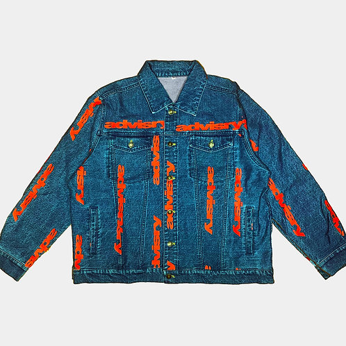 All Over Logo Denim Jacket