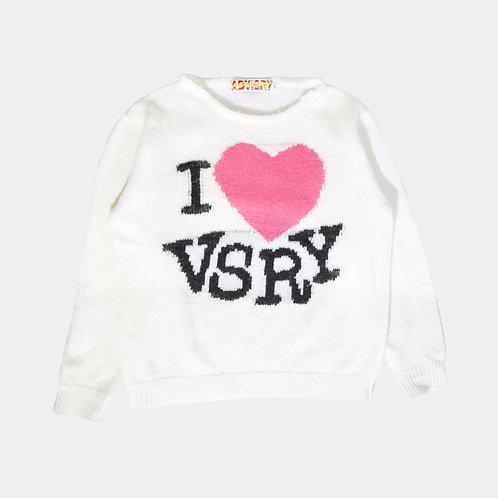 <3 VSRY Sweater (White)