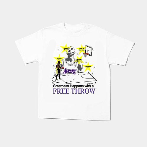 Free Throw Tee (White)