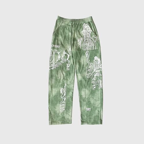 Tie Dye Crest Pants (Algae)