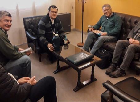 El Obispo recibió a dirigentes del gremio de Ladrilleros (UOLRA)