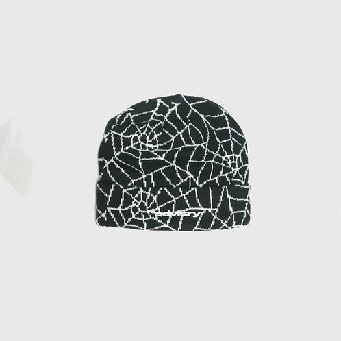 Spiderweb Beanie (Black)