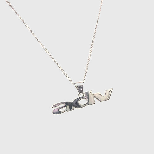 .925 Sterling Silver Logo Chain