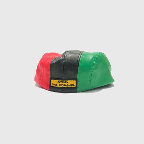 Leather Tri Color 546 Cap
