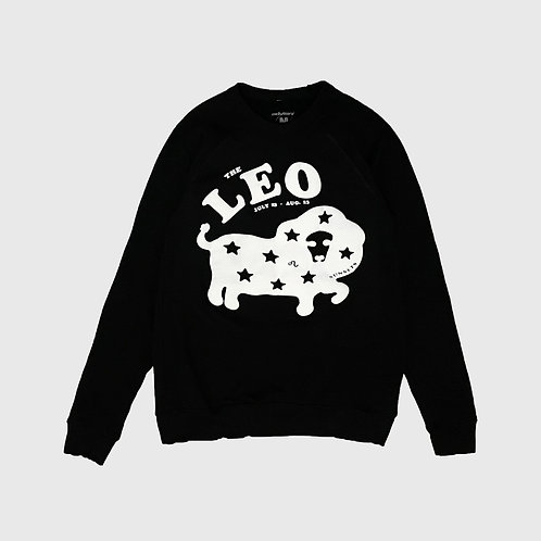 Leo Sunsets Raglan Sweater (Black)