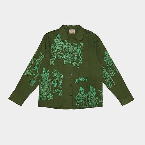 Crest Linen Shirt (Olive)
