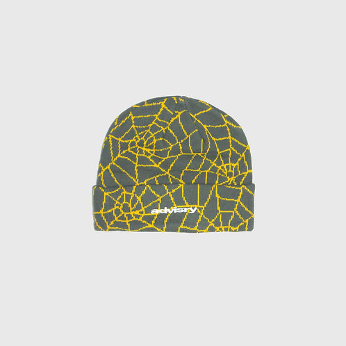 Spiderweb Beanie (Grey)