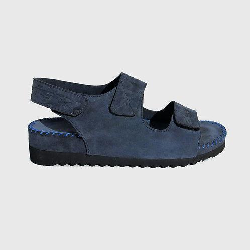 Leather Village Sandals Midnight