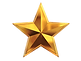 Line of 5 Gold Star