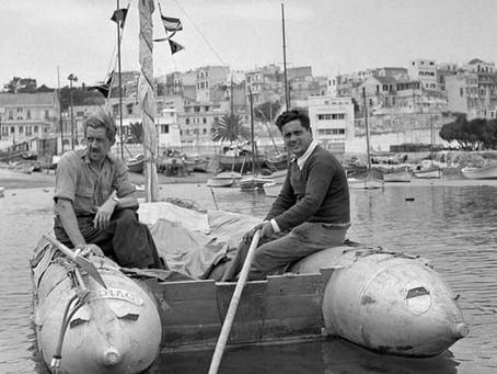 Alain Bombard and 6 Czech sailors