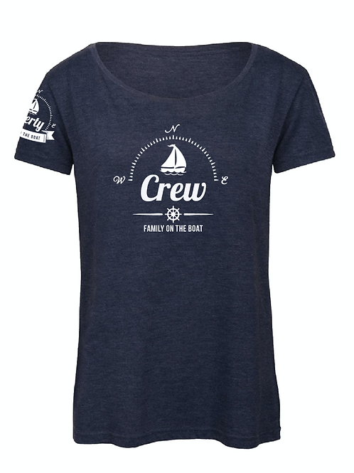 Women t-shirt - crew - blue