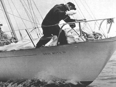 Today it is 50 years sinceSir Francis Chichester finished hisepic round the world voyage
