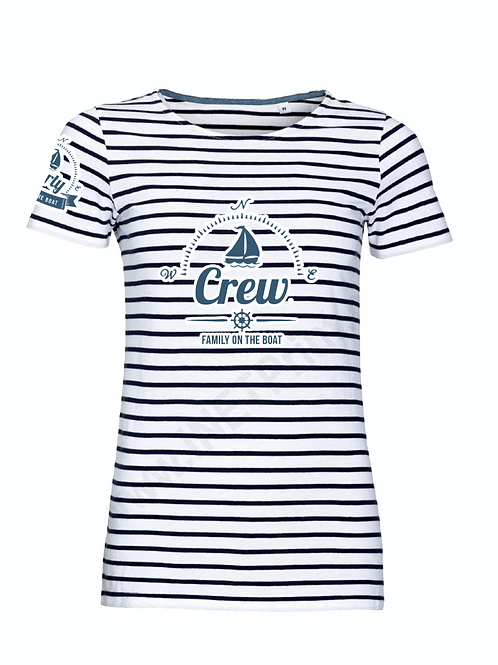 Women t-shirt - crew - stripes