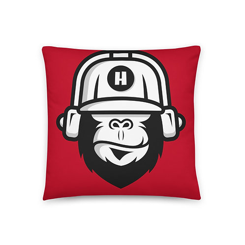 Gorilla Red Pillow