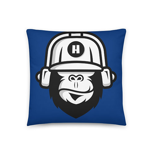 Gorilla Blue Pillow