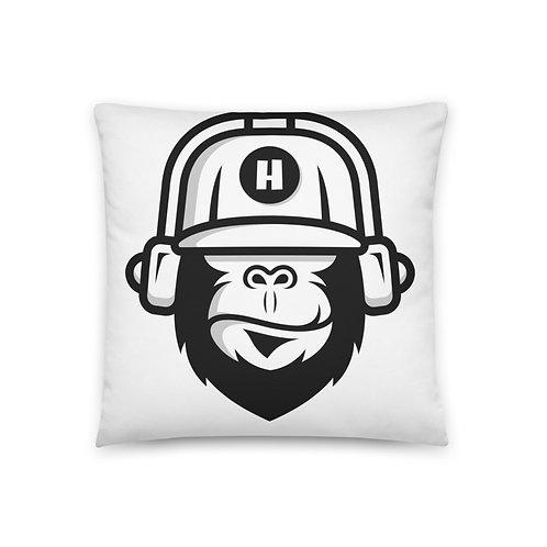 Gorilla White Pillow