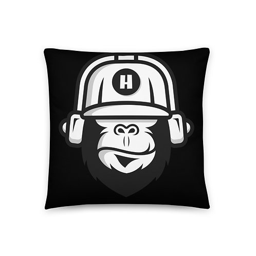 Gorilla Black Pillow