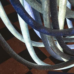 45 Blue chandelier