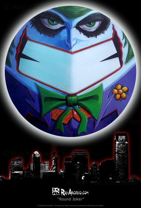 Round Joker over Jersey City
