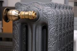 Cast iron radiator close-up