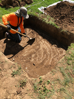 Fernando Digging A Septic Tank