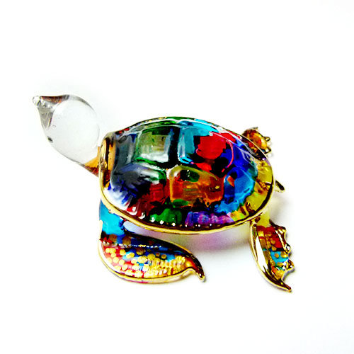 Sea Turtle Mini Glass Figurine