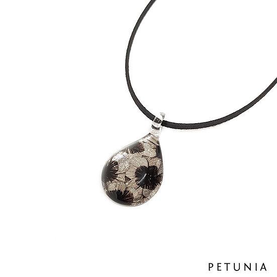 PW689 Petunia Glass Pendant Water Drop Shape