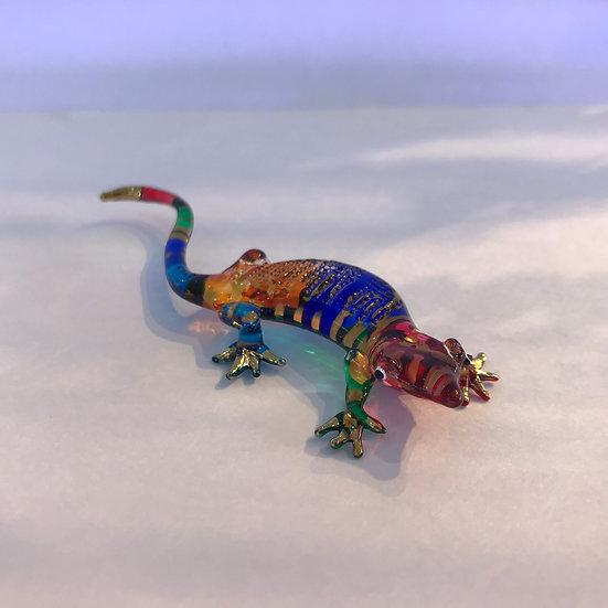Gecko Lizard Glass Figurine