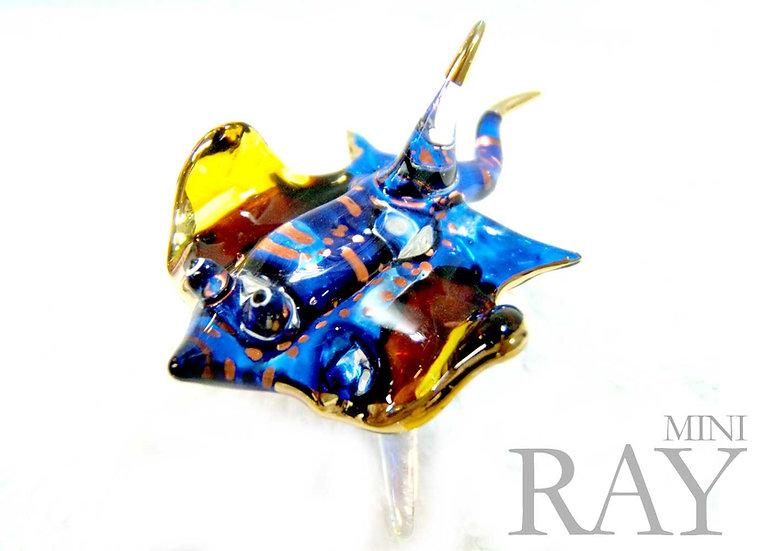 Blue Ray Glass Figurine