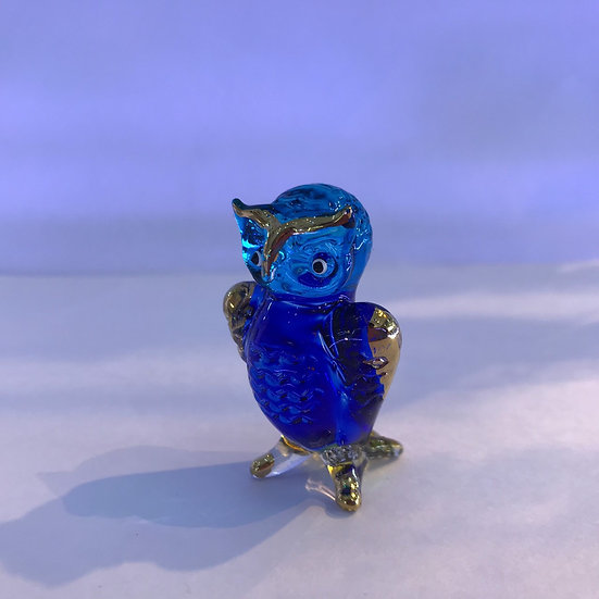 Standing Owl Blue Color