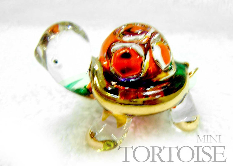 Mini tortoise Glass Figurine