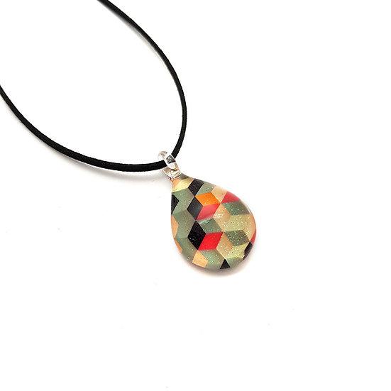PW686 Water drop glass pendant