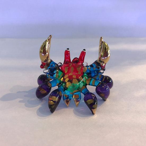 Purple Crab Glass Figurine