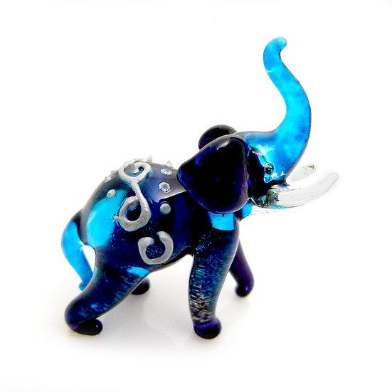 Blue Elephant Trunk Up Thai Style