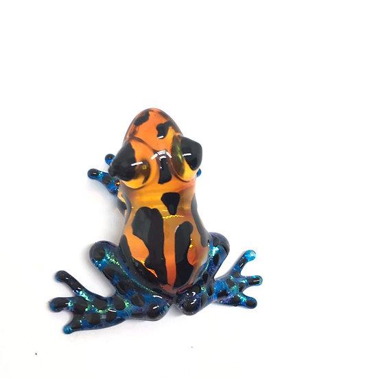 Poison Frog Blue Orange color Glass