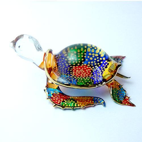 Sweet water Turtle Mini Glass Figurine