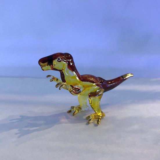 T Rex Dinosaur Glass Figurine