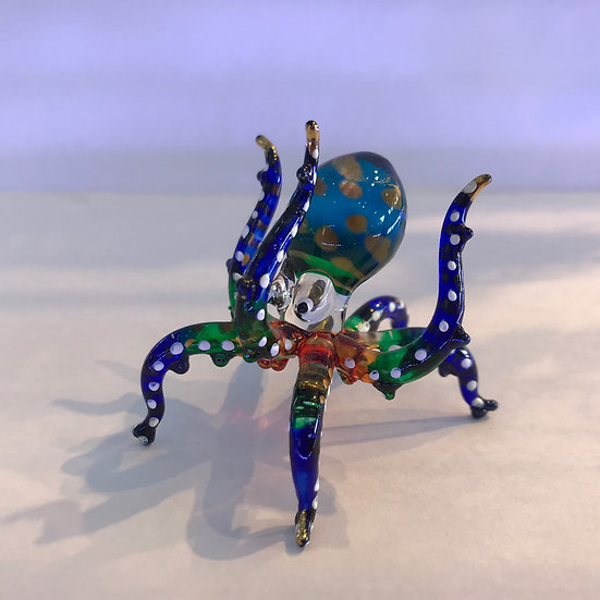 Hand Up Octopus Glass Figurine