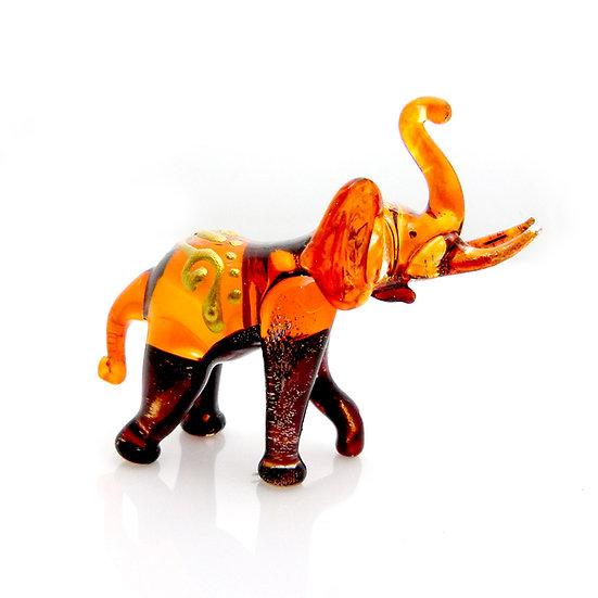 Orange Brown Elephant Trunk Up Thai Style