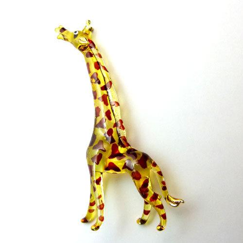 Yellow Giraffe Glass figurine