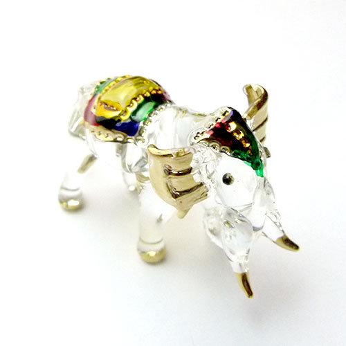 Trunk Down Elephant Glass Figurine