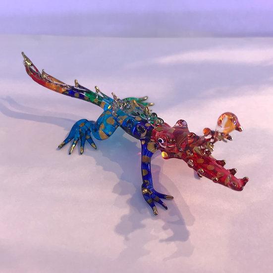 Crocodile Glass Figurine Color hand painting