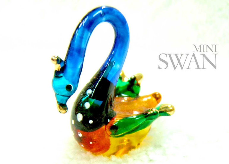 Mini Swan Glass Figurine