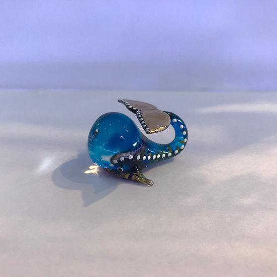 Blue Whale Glass Figurine