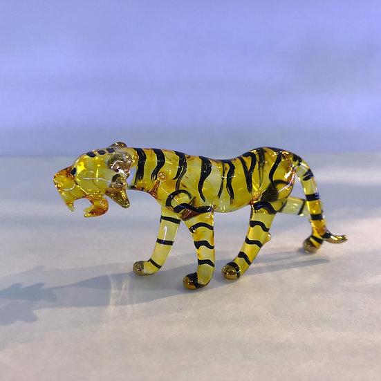 Tiger Glass figurine Hand Painting