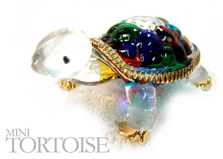 Mini Land Tortoise Glass Figurine