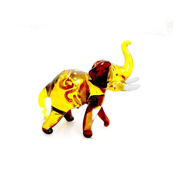 Brown Yellow Elephant Thai Style