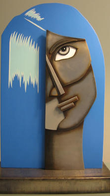 """""""Blue"""" astract bust. 26""""h x 16""""w x 7""""d"""